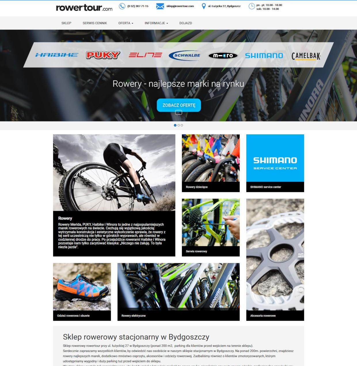 sklep rowerowy bydgoszcz, serwis rowerowy bydgoszcz, strona www